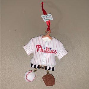 MLB Phillies Uniform on Hanger Ornament